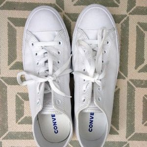 Converse 10.5 All White Leather